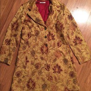 Cabi Boho Tapestry Coat 12 14